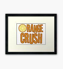 Orange Crush REM Song Lyrics Rock Music Fruit Framed Print