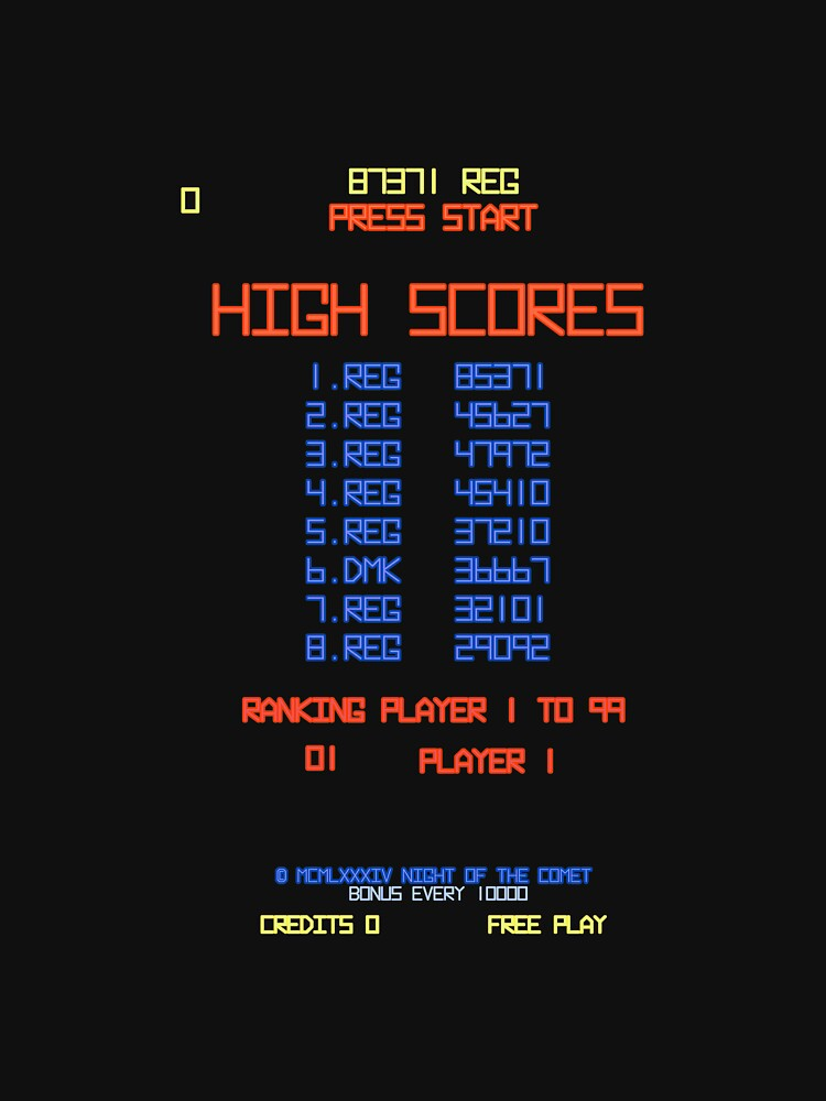 DMK High Score : Night of the Comet by WonkyRobot