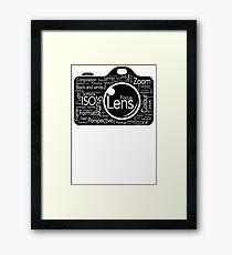 Photographers Vocab Framed Print
