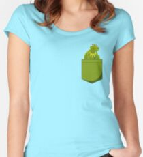 Kermit Pocket Women's Fitted Scoop T-Shirt