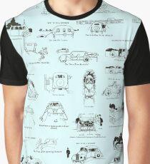 Heath Robinson Motorcars Repeating Pattern Graphic T-Shirt