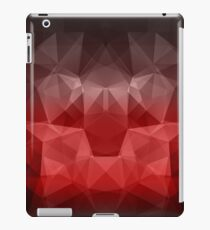Abstract background of triangles polygon wallpaper in black red colors iPad Case/Skin