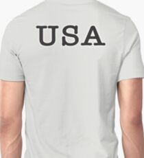 USA, United States of America, Typewriter Font, Pure & Simple T-Shirt