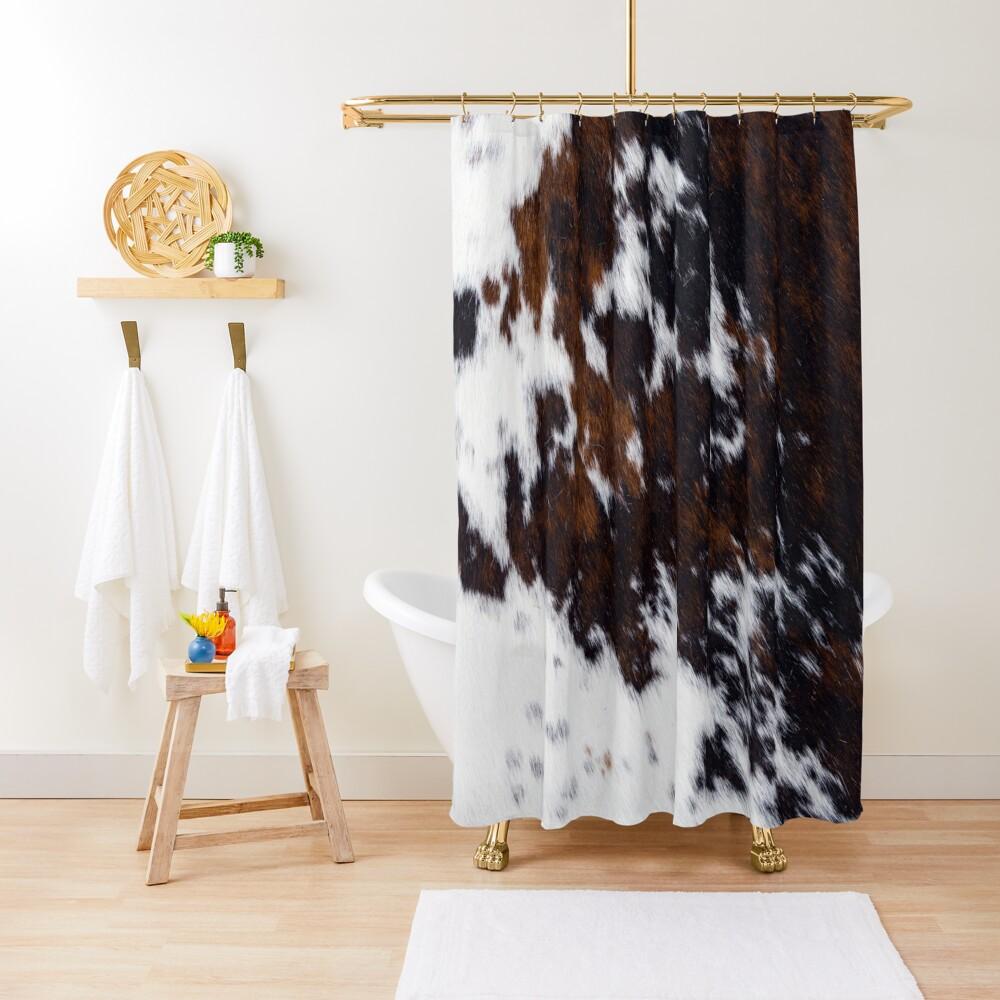 Wanderlust Cow Art Shower Curtain