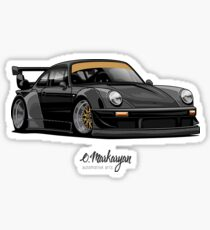 RWB (black) Sticker
