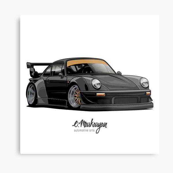 RWB (black) Metal Print