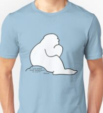 Bigfoot wondering about the existence of Humans Unisex T-Shirt