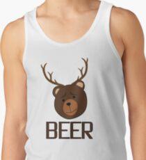 Bear Deer Beer Animals Funny T shirt Grizzly Bear Cool Drinking Drunk Joke Tank Top
