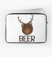 Bear Deer Beer Animals Funny T shirt Grizzly Bear Cool Drinking Drunk Joke Laptop Sleeve
