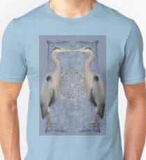 Herons on blue Unisex T-Shirt
