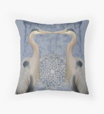 Herons on blue Throw Pillow