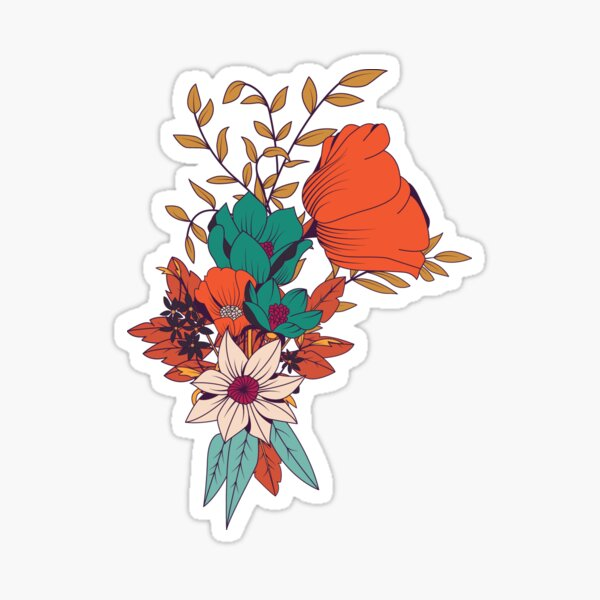 Botanical pattern 010 Sticker