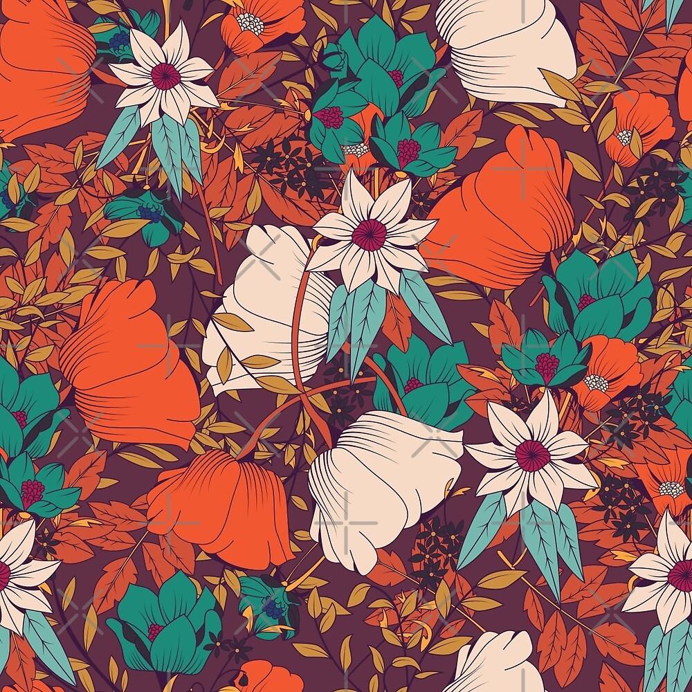Botanical pattern 010 by BlueLela