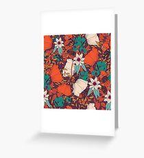 Botanical pattern 010 Greeting Card