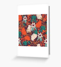 Botanical pattern 010 Greeting Card