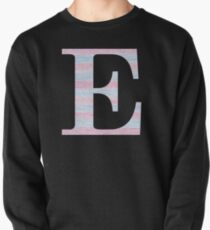 Letter E Blue And Pink Dots And Dashes Monogram Initial Pullover