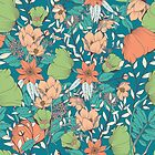Botanical pattern 012 by BlueLela