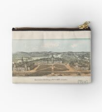 Vintage Ottawa Government Buildings Map (1865) Studio Pouch
