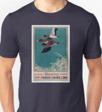 Vintage Mallard Hunting Poster Restored T-Shirt