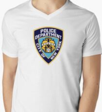 Patch of The New York City Police Department Men's V-Neck T-Shirt
