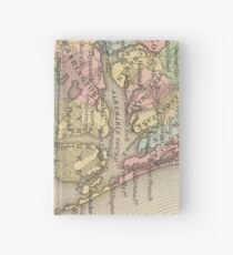 Vintage Map of The Outer Banks (1859) Hardcover Journal