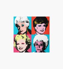 Golden Warhol Girls Art Board