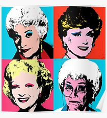 Golden Warhol Girls Poster