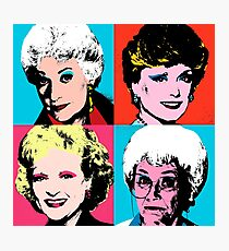 Golden Warhol Girls Photographic Print