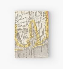 Vintage Map of The Outer Banks (1818) Hardcover Journal