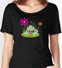 Little Green Baby Bunny With Flowers Women's Relaxed Fit T-Shirt