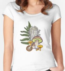 mushroom forest Women's Fitted Scoop T-Shirt