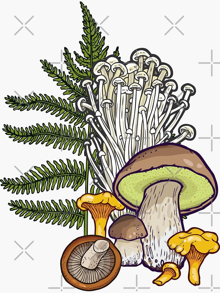 mushroom forest by smalldrawing