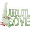 Axolotl Love- Green by Kristina S