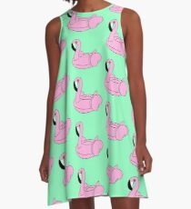 Flamingo Floatie A-Line Dress