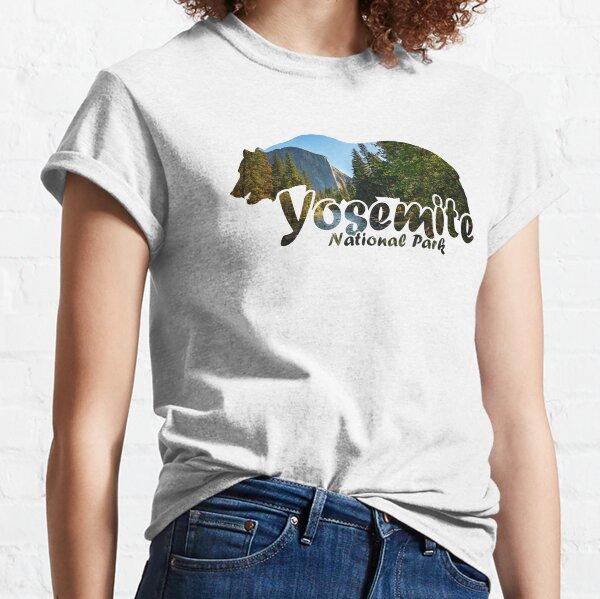 Yosemite National Park California Half Dome El Capitan Bear Silhouette Classic T-Shirt