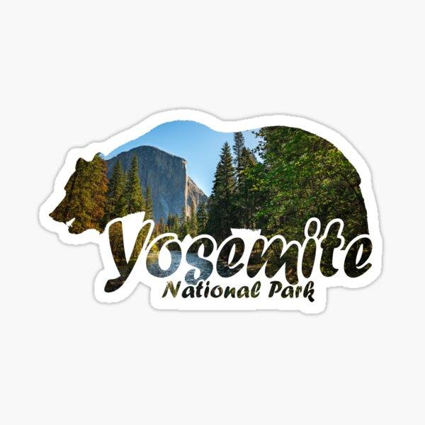 Yosemite National Park California Half Dome El Capitan Bear Silhouette Sticker