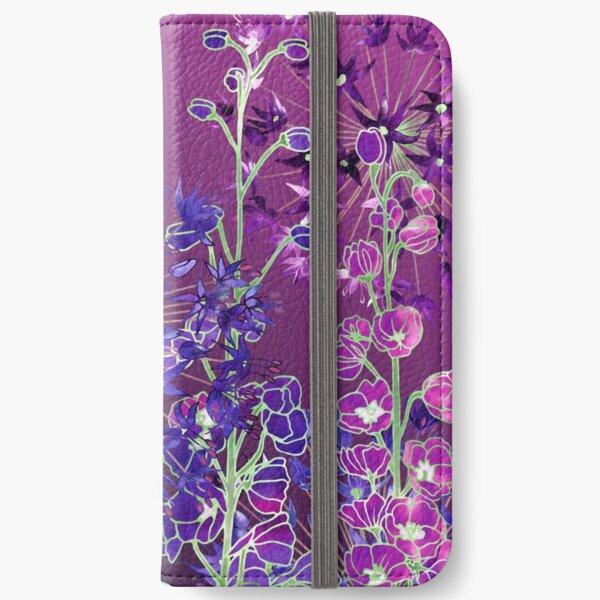 Delphiniums & Alliums - Purple Flowers iPhone Wallet