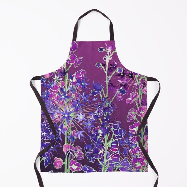 Delphiniums & Alliums - Purple Flowers Apron
