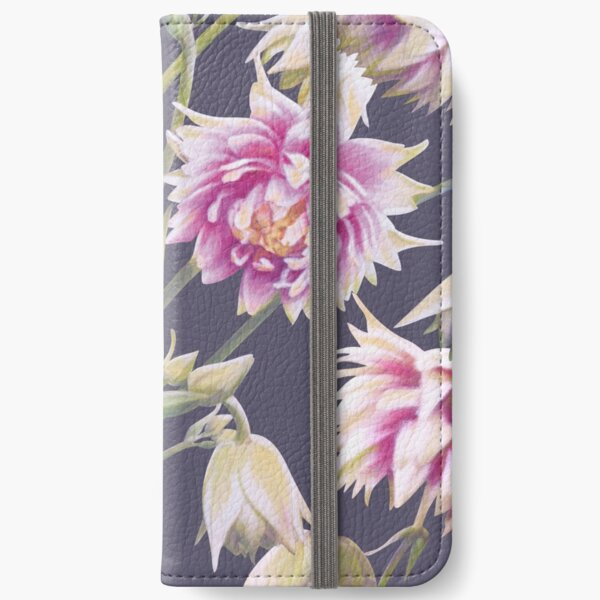 Nora Barlow Aquilegia Flowers iPhone Wallet