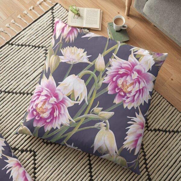 Nora Barlow Aquilegia Flowers Floor Pillow