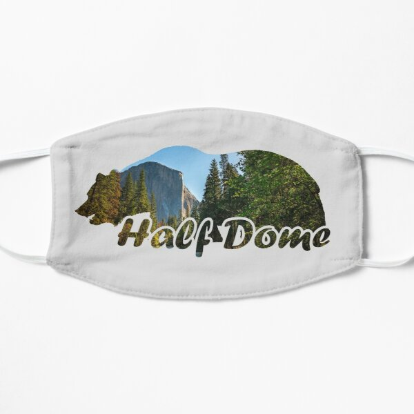 Half Dome El Capitan Yosemite National Park California Bear Silhouette Flat Mask