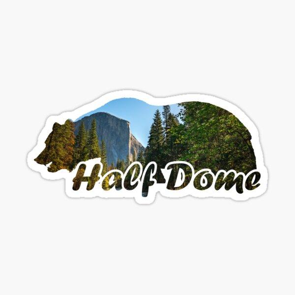 Half Dome El Capitan Yosemite National Park California Bear Silhouette Sticker