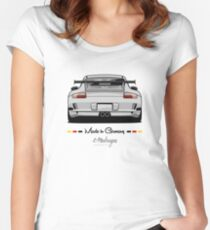 GT3 (white) Women's Fitted Scoop T-Shirt