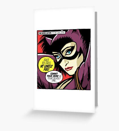 Post-Punk Face Greeting Card