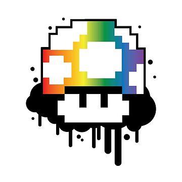 Rainbow Mushroom by drpsychoswanner