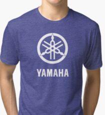 YAMAHA White logo Tri-blend T-Shirt