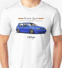 Golf MKIV (blue) Slim Fit T-Shirt