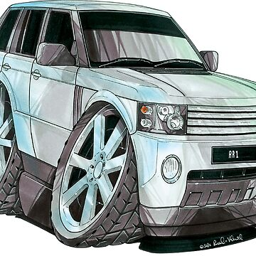 Land Rover Range Rover Caricature by supercarshirts
