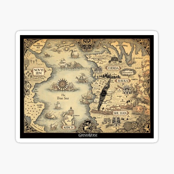 Colored Grishaverse Map (Shadow and Bone map)  Sticker