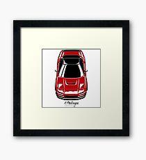 NSX (red) Framed Print